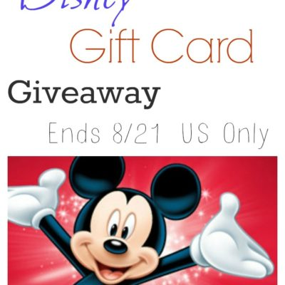 GIVEAWAY: $50 Disney Gift Card