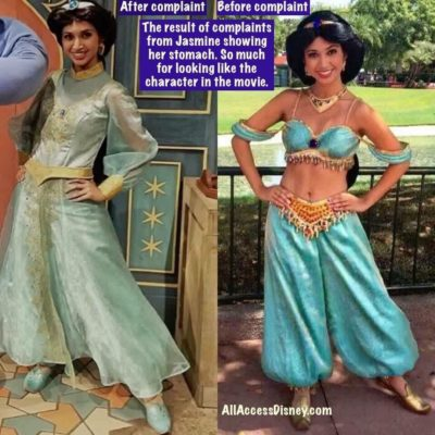 Princess Jasmine's New Wardrobe Controversy
