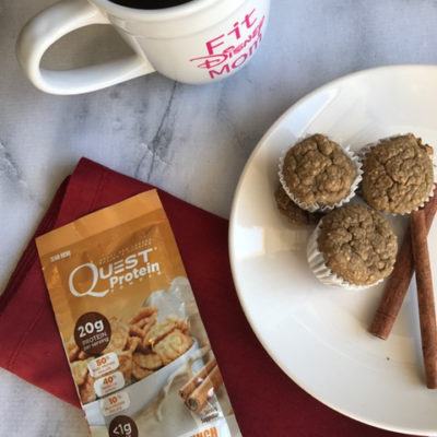 Blender Muffins Recipe Featuring Quest Cinnamon Crunch Protein Powder