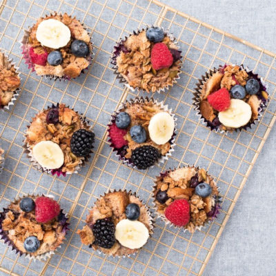 Banana and Berry Breakfast Cups Inspired by Mrs. Potts