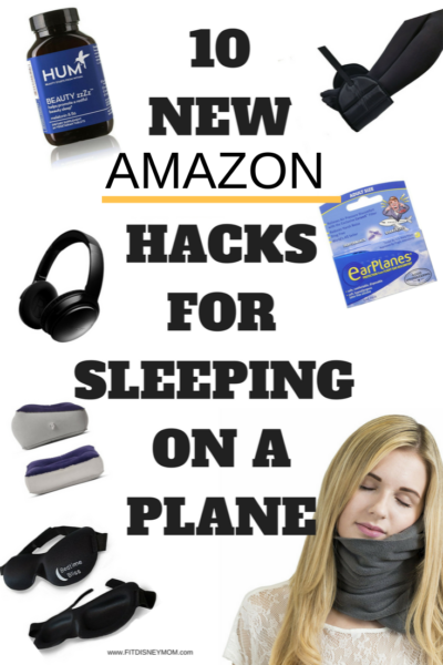 The BEST hacks for sleeping on an airplane to keep you comfortable - no matter how long the distance! #Amazon #Travel #TravelHacks #TravelTips