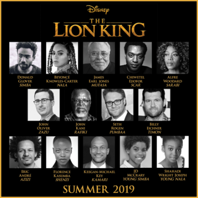 Cast of 2019 The Lion King Announced!