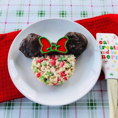 Christmas Minnie Mouse Rice Krispies Treats