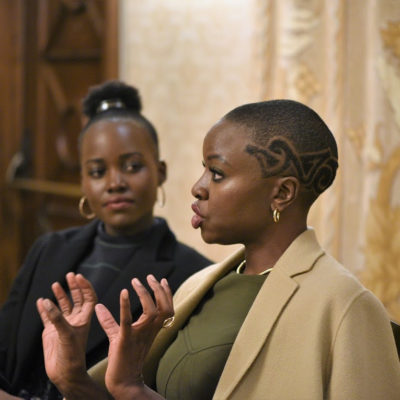 Female Empowerment in Black Panther   Lupita Nyong'o and Danai Gurira Interview #BlackPantherEvent