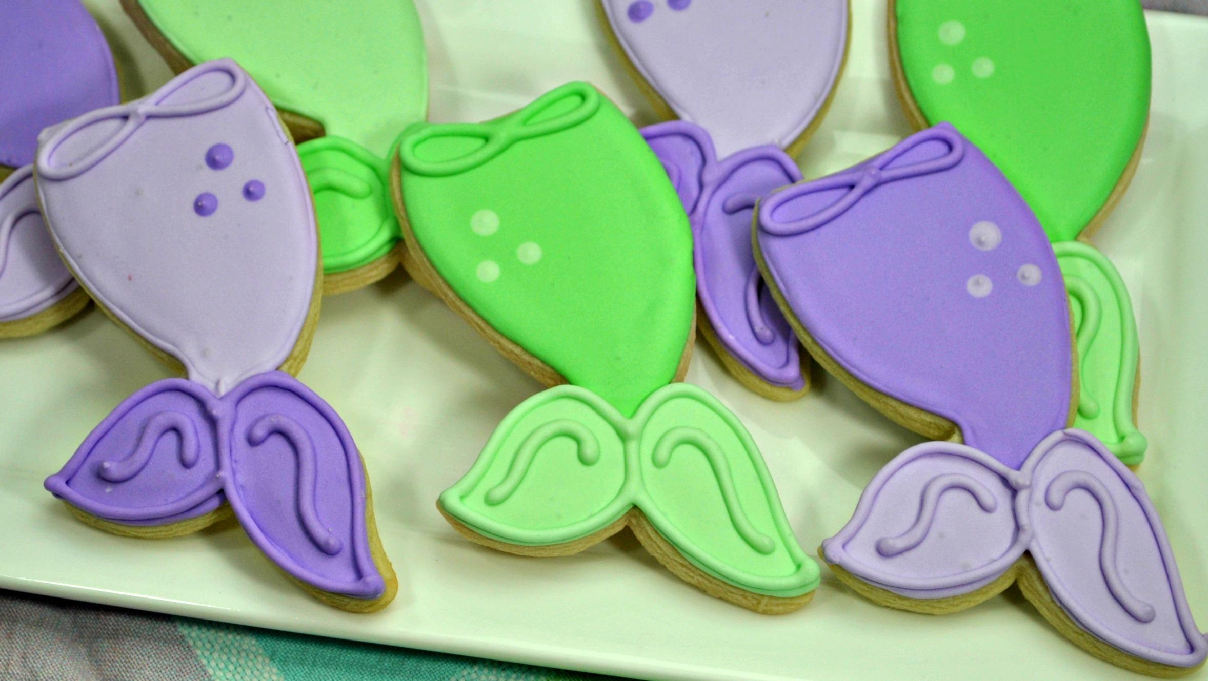 Mermaid Cookies Recipe, Mermaid Cookies, Mermaid Tail Cookies, Mermaid Party