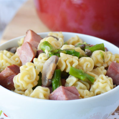 Ham & Asparagus One Pot Pasta Recipe | Easy Weeknight Dinner Idea