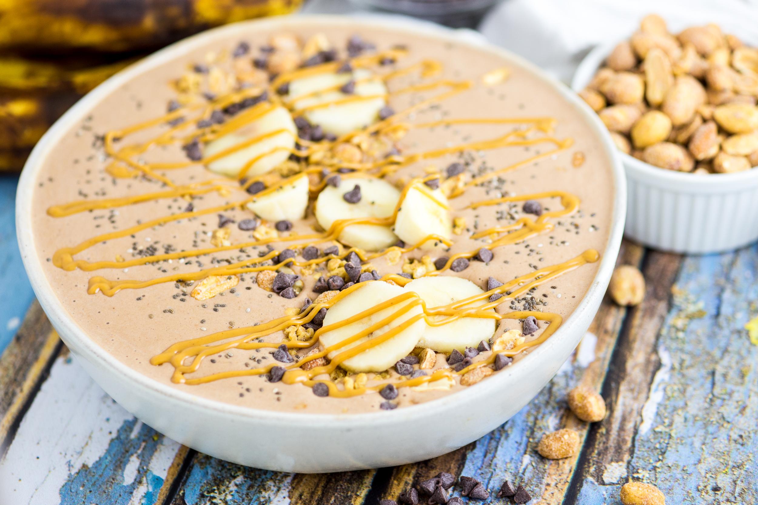 Acai Powder Smoothie Bowl, Chocolate Peanut Butter Smoothie Bowl, Smoothie Bowl Recipe, Easy Smoothie Bowl