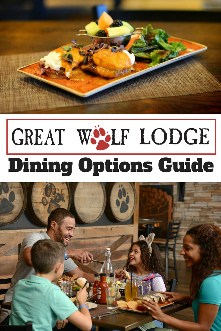 A guide to the dining options at Great Wolf Lodge Resorts, including options for kids and adults. Including Gluten-Free and Nut Allergy information that you need to know. #GreatWolfLodge