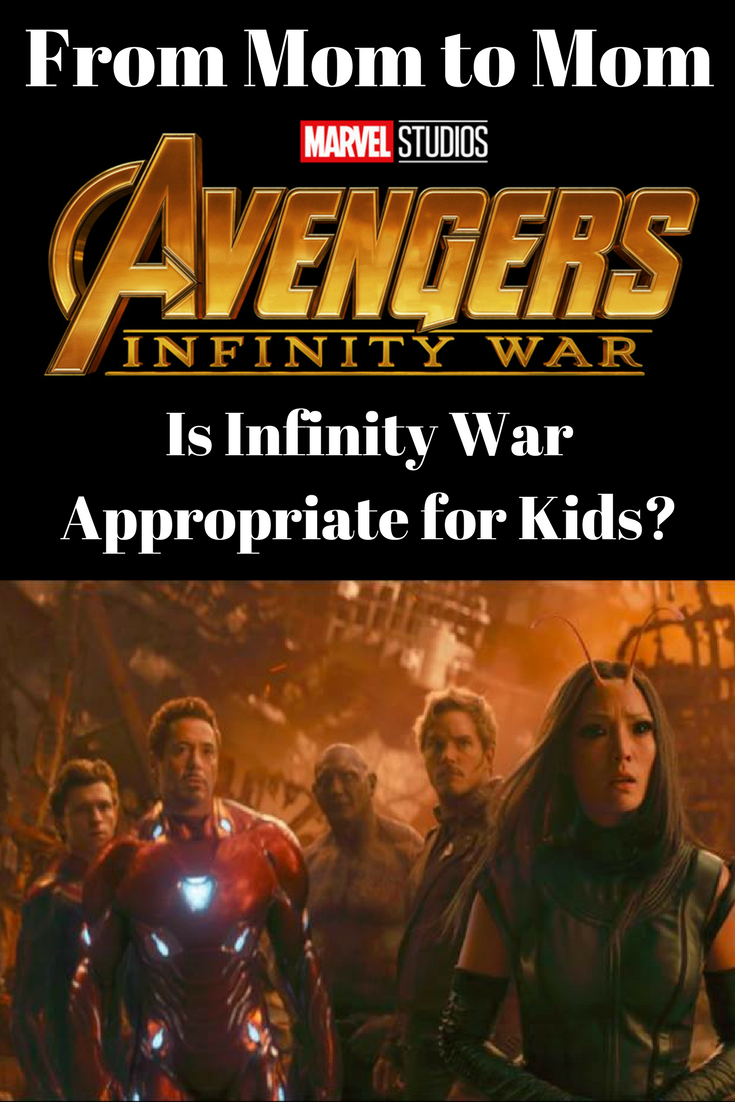 Find out if you should take your kids to see Avengers: Infinity War in the theaters. Here's my SPOILER-FREE opinion and breakdown. #infinitywar #marvel #avengers