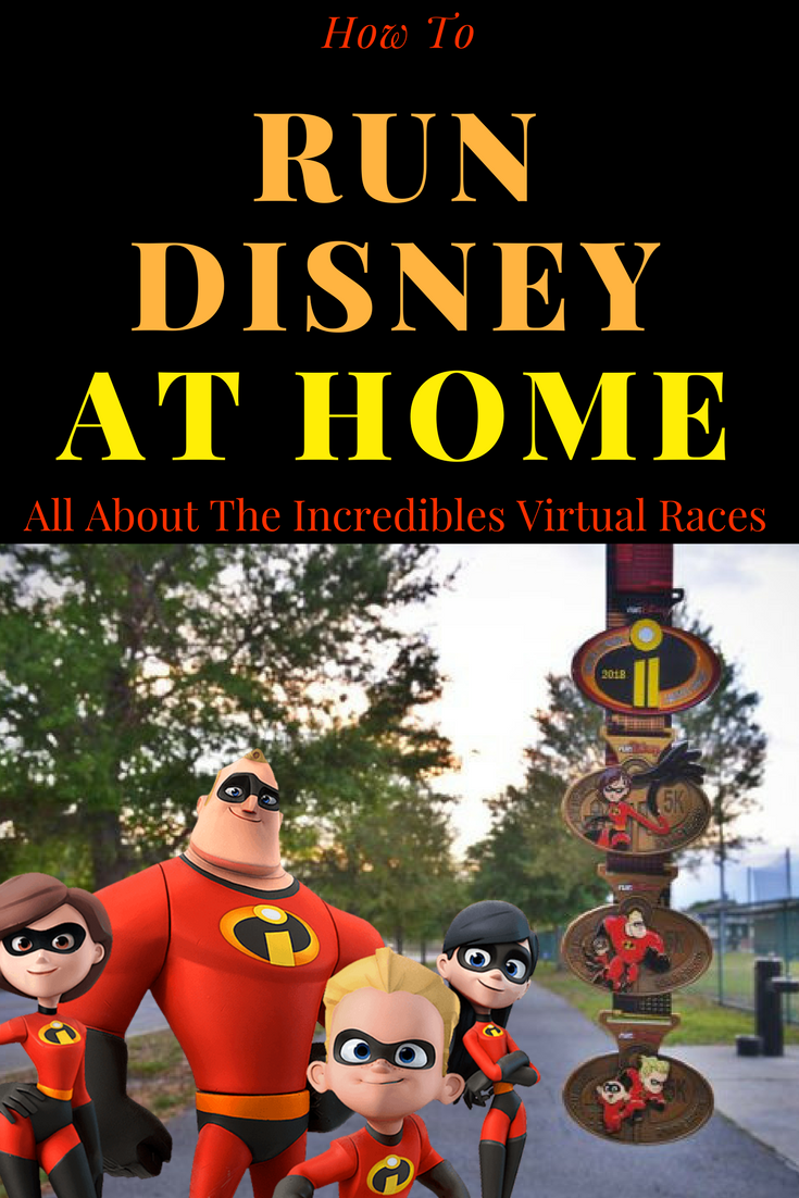 "How to experience the magic of Run Disney at home, with their Summer virtual Running Shorts Series. The 2018 theme is ""Incredibles 2"" and you can run at ANY pace."