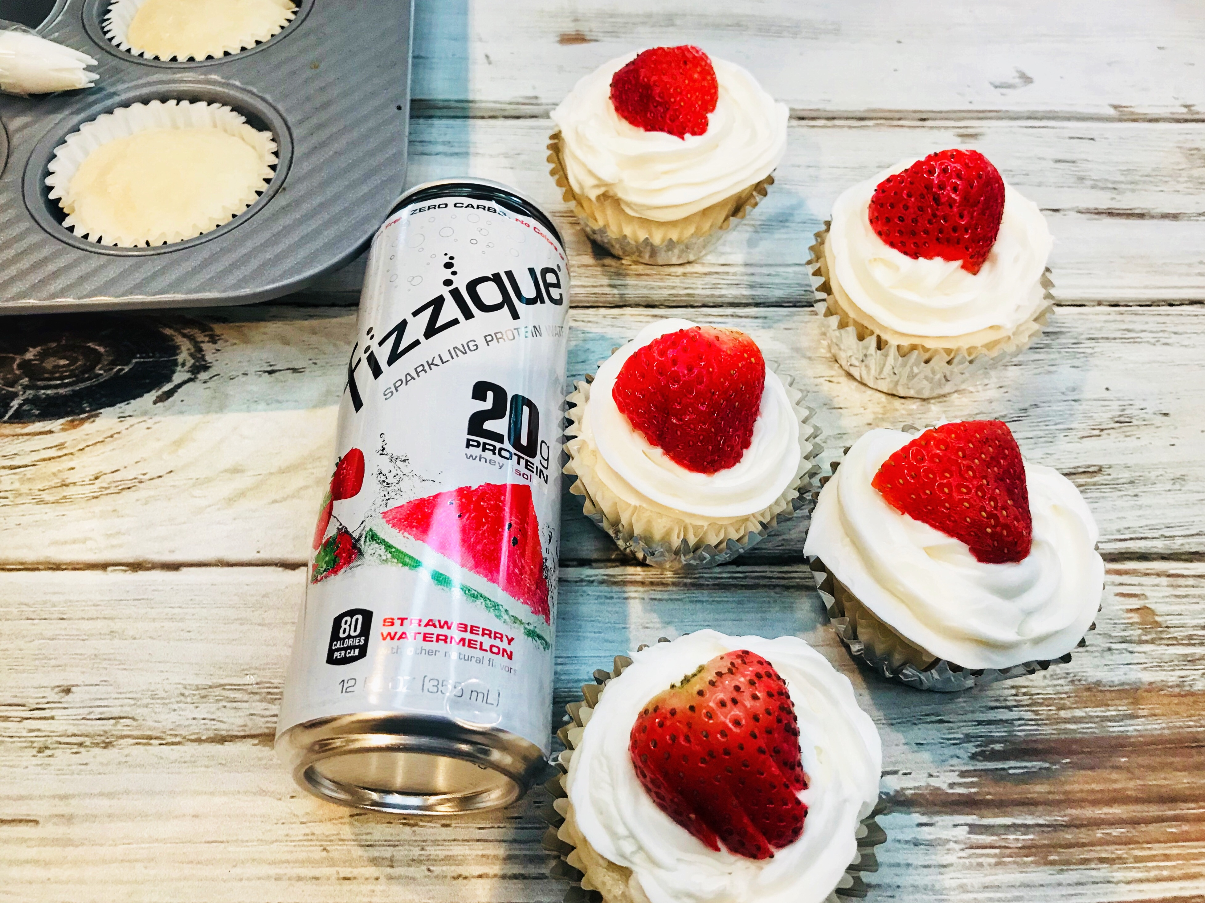 How to Make Protein Cupcakes, Protein Cupcake Recipe, Berry Protein Cupcakes
