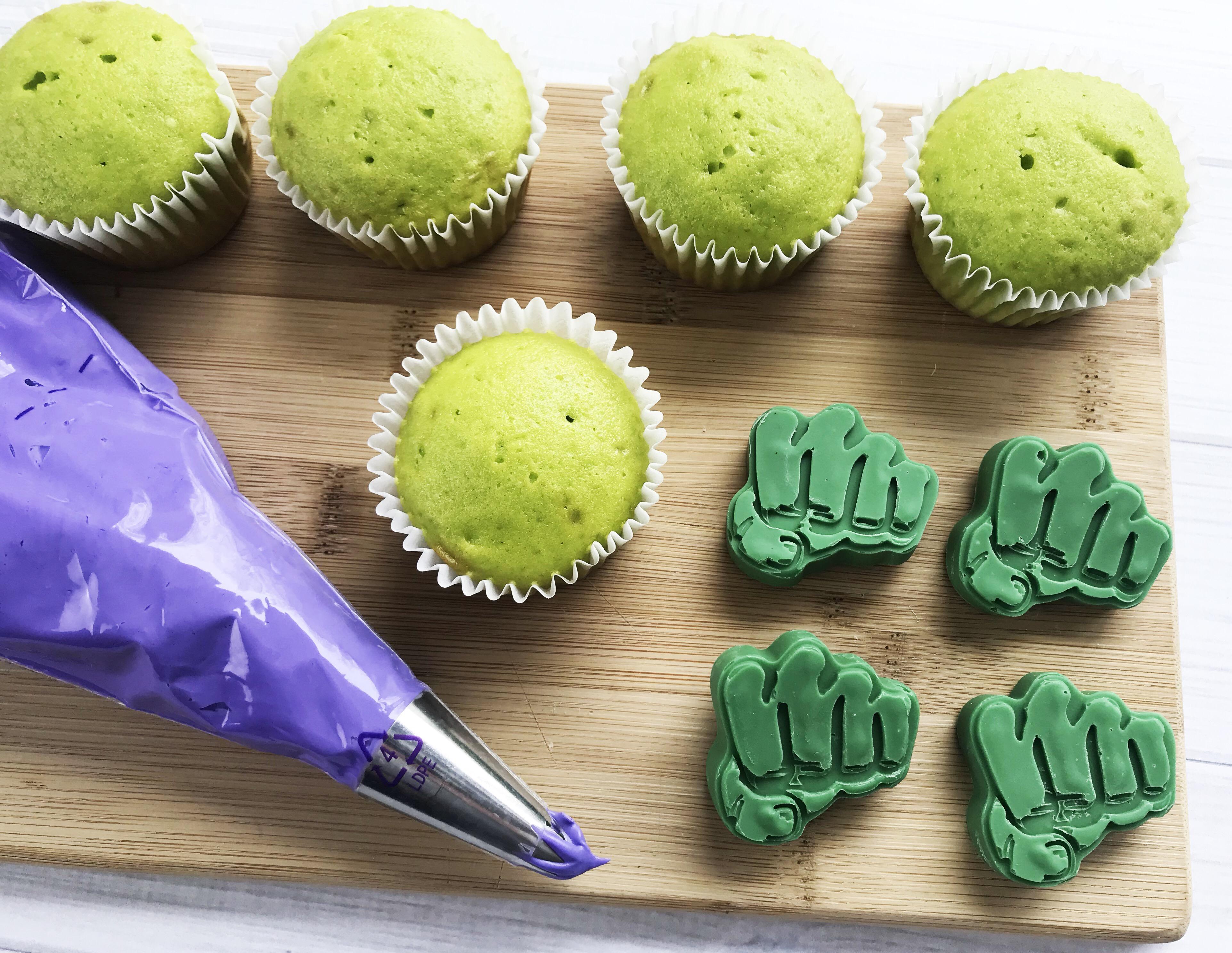 Avengers Dessert Recipe Hulk Cupcakes Perfect For A