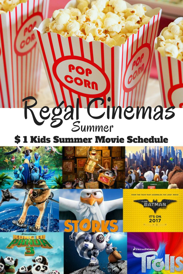 Regal Cinemas Summer Movie Schedule, Regal Cinemas $1 Kids Movies, Summer Kids Movies