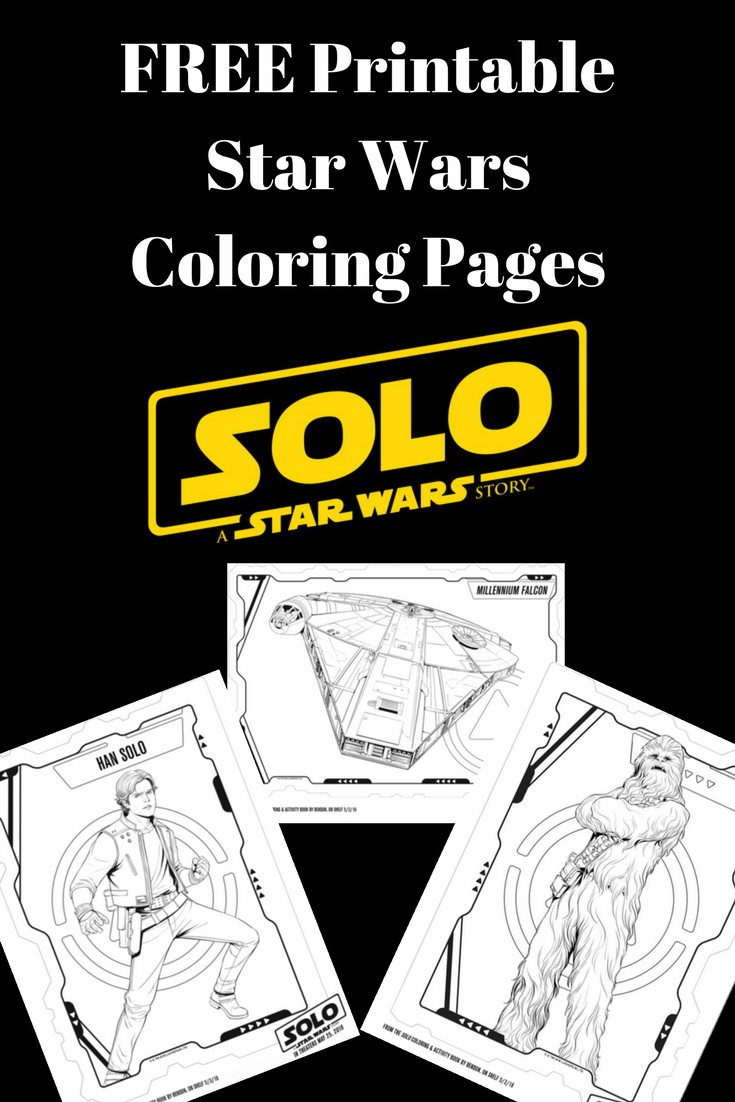 Print these FREE Star Wars Solo: A Star Wars Story coloring pages. #StarWars #ColoringPages