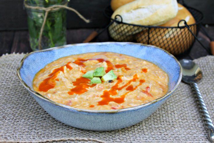 Buffalo Chicken Slow Cooker Soup, Buffalo Chicken Soup, Slow Cooker Soup, Crock-Pot Soup Recipe, Soup Recipe, One-bowl Dinner