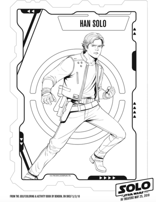 Solo: A Star Wars Story Coloring Pages, Star Wars Coloring Pages