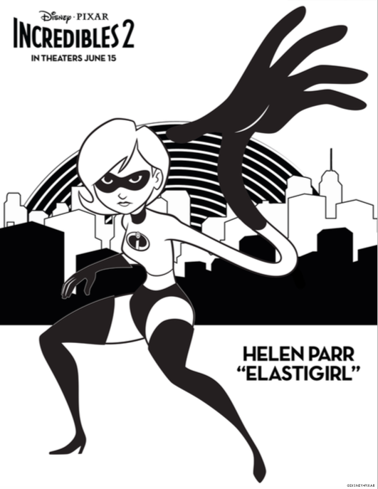 incredibles  coloring pages  perfect summer busy