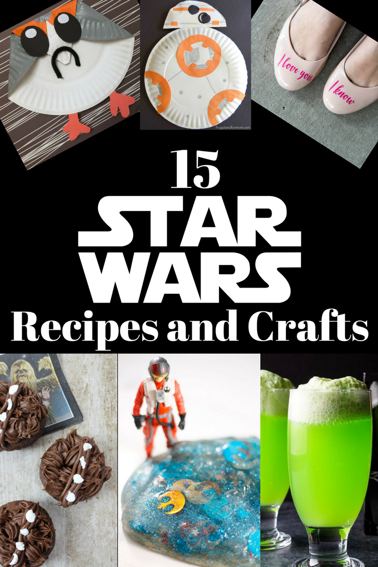 Celebrate Star Wars day with these awesome Star Wars Recipes and Crafts. #StarWarsRecipes #StarWarsCrafts #StarWars #May4th