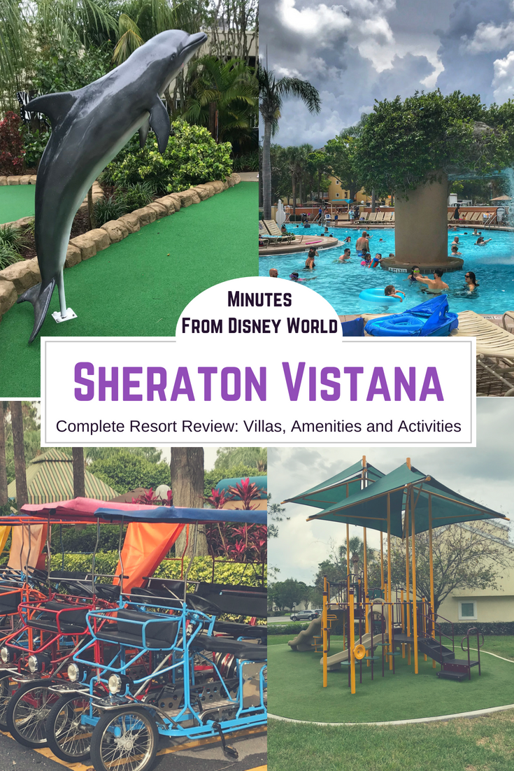 See why the Sheraton Vistana will help stretch your dollar when visiting the Orlando theme parks. The resort is perfect for large parties, offers the comforts of home and amenities designed for kids. #Orlando #DisneyVacation #DisneyWorld #DisneyHotels #Sheraton