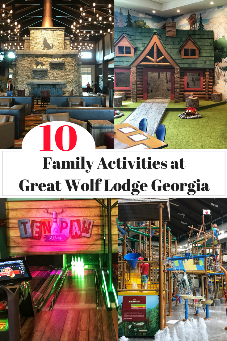 See my top list of things for families at Great Wolf Lodge Georgia resort. Including video and photos of: the suites, waterpark, adventure park and dining options! #FamilyTravel #GreatWolfLodge #Atlanta #Georgia