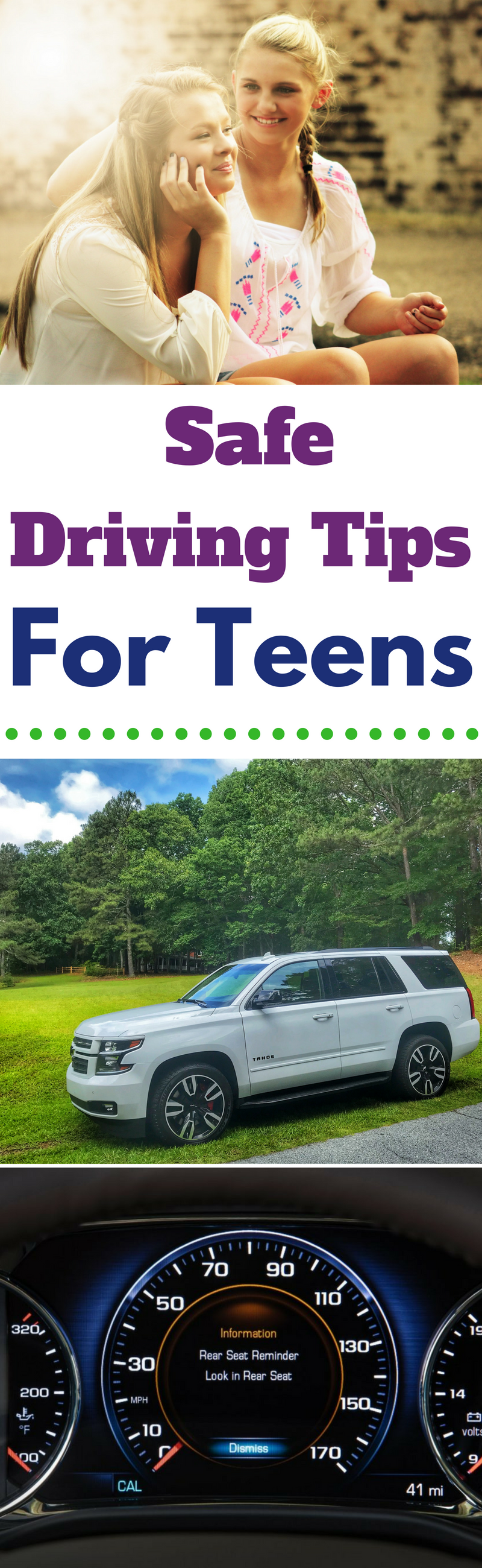 The best teen safe driving tips to keep them safe behind the wheel and help give you peace of mind. #Teens #Teenager #Driving #Chevrolet