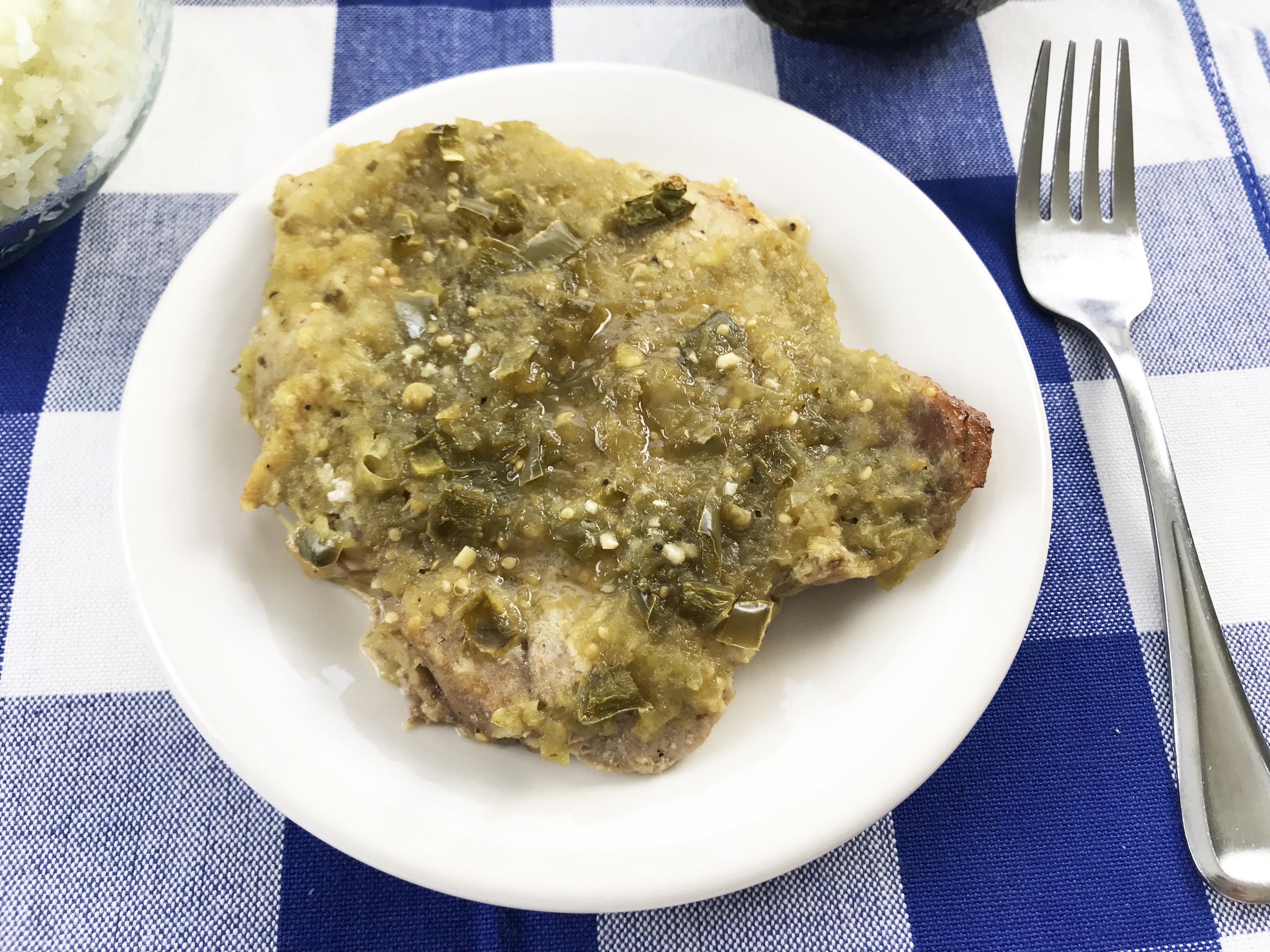 Salsa verde pork chops, pork chops recipe, boneless pork chops recipe, pork, salsa verde