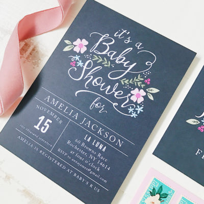 All In The Details: Adorable Twin & Safari Themed Baby Shower Invitations