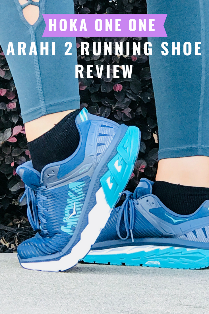 Review of the HOKA ONE ONE Arahi 2 Women's running shoes. They offer stability + cushion for a smooth ride. #Running #Runchat #RunningTips #RunningMotivation #Run