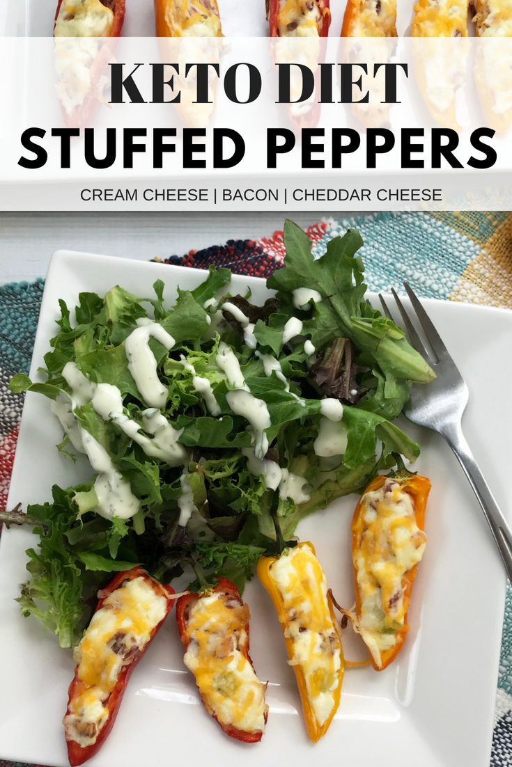 This creamy stuffed pepper recipe is full of flavor, easy to make and completely Keto diet friendly. Perfect as an appetizer or main dish. #KetoRecipes #Keto #KetoDiet #LowCarb #LowCarbRecipe