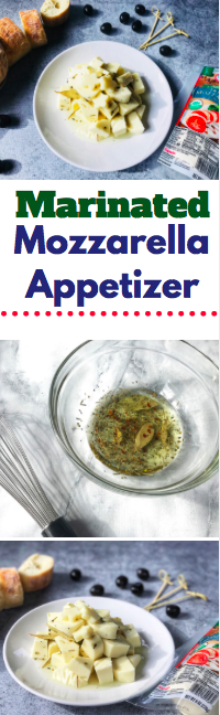 Make this easy marinated mozzarella appetizer for any summer gathering. It can be kept in the fridge for two weeks - perfect for unexpected guests. #AD #StellaCheeses