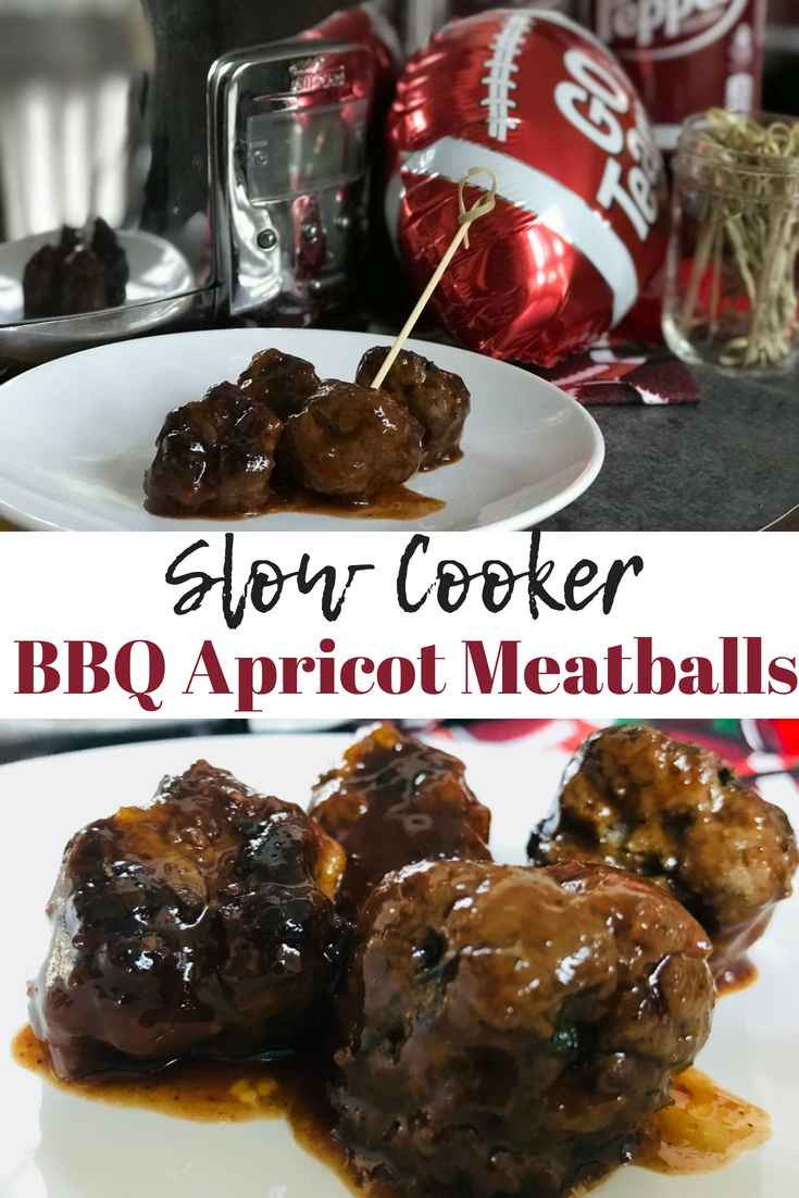 Keep tailgating fun and easy with the Slow Cooker BBQ Apricot Meatballs, featuring Dr Pepper® #AD #MyPublixWin