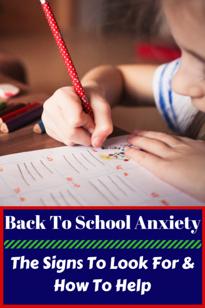 How to help your child overcome back-to-school anxiety: what are the signs, how to discuss it with teachers and what you can do to help. #Backtoschool #Kids #School #Preschool #ElementarySchool