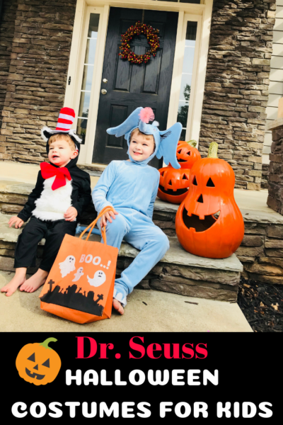 If your little book worms love Dr. Seuss, these character costumes inspired by their favorite books will be a big hit! See why they are Mom-approved. #AD #Halloween #DrSeuss #HalloweenKidsCostumes #HalloweenCostumes