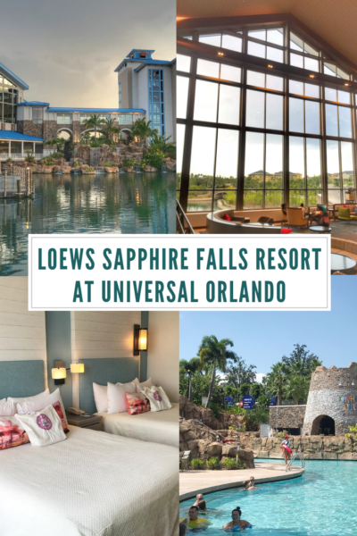 The amenities of the Loews Sapphire Falls Resort at Universal Orlando: Your complete guide to staying at the resort. #FamilyTravel #UniversalOrlando #UniversalStudios #IslandofAdventure #Travel