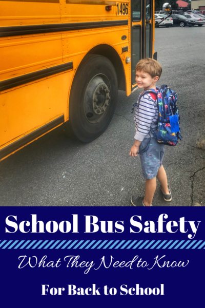 School bus safety tips that every child needs to know, starting with Kindergarten. #PERCBusSafetyTips #AD