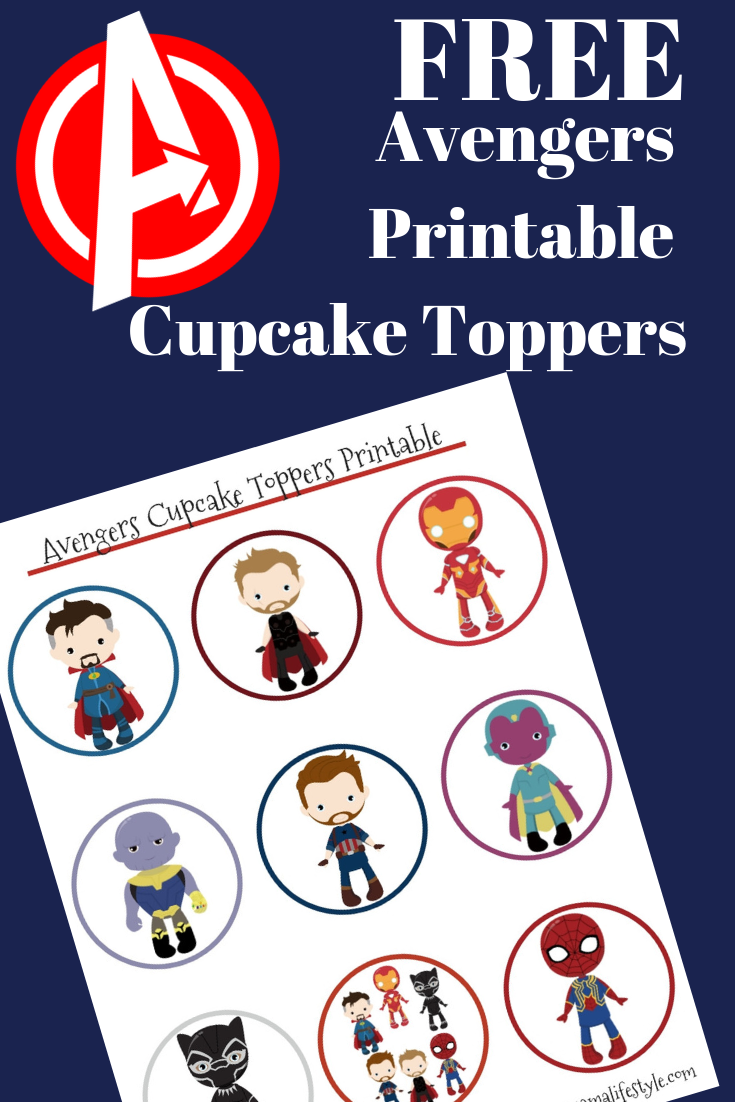 image about Free Printable Cupcake Wrappers and Toppers With Spiderman titled Avengers Cupcake Toppers with Printable Do-it-yourself Manual