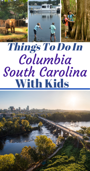 All of the fun family things to do in Columbia South Carolina with kids! Including the downtown area and surrounding Lake Murray Country suburb areas. #ColumbiaSC #FamilyTravel #Travel #TravelWithKids #SouthCarolina
