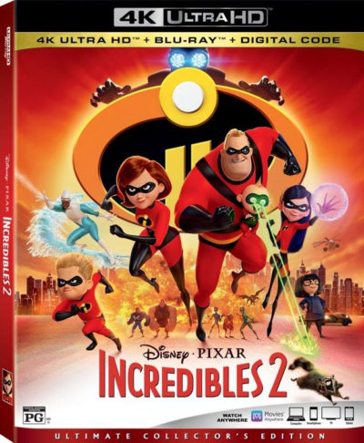 Disney Incredibles Crafts, Incredibles 2 BluRay, Incredibles 2 DVD, Incredibles 2 Bonus Features