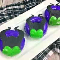 Maleficent Donut, Baked Maleficent Donut Recipe, Disney Villain recipe, Disney villain, Baked Donut recipe