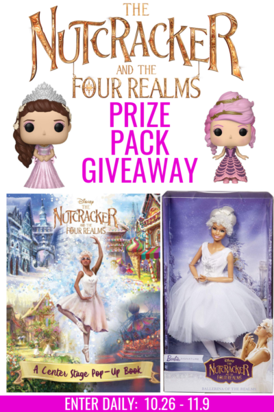 Nutcracker and the Four Realms Giveaway, Nutcracker Giveaway, Disney's Nutcracker