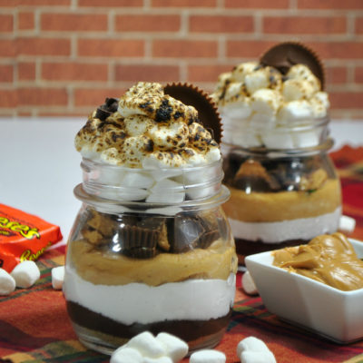 Reese's Peanut Butter S'More Parfait: Leftover Halloween Candy Recipe