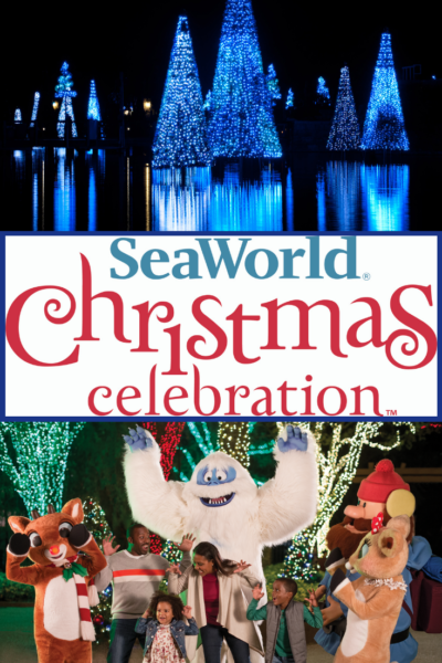 Celebrate Christmas at SeaWorld Orlando 2018 - see the park extras that they offer only during the holiday season.