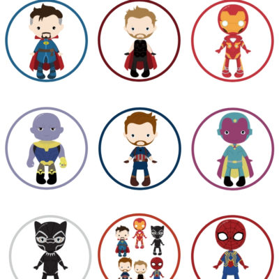 Avengers Cupcake Toppers with Printable | DIY Tutorial