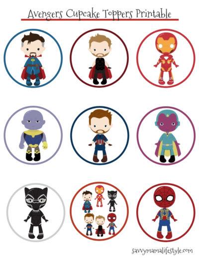 Avengers Cupcake Toppers, Avengers Cupcake Topper, Avengers Cupcakes, Avengers Craft