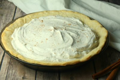 No-Bake Eggnog Pie, No-Bake Eggnog Pie Recipe, Christmas Pie Recipe, Eggnog Dessert Recipe, Eggnog