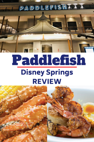 If you want Seafood dining at Disney World, Paddlefish at Disney Springs was voted #1 seafood restaurant by Orlando Magazine. Read my review and see why you need reservations for your Disney World trip. #DisneyWorld #DisneySprings #WDW #DisneyTips #DisneyPlanning
