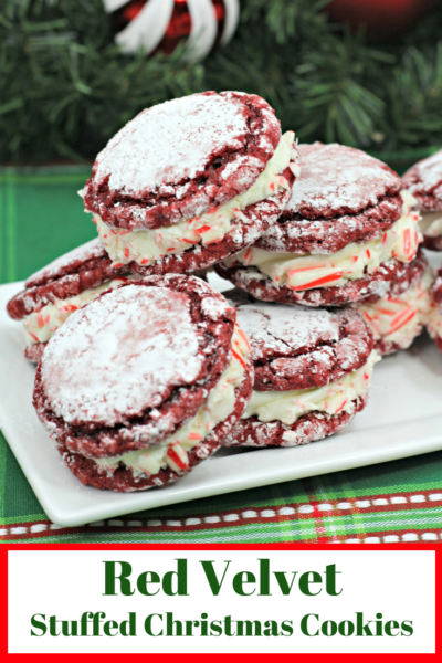 Red Velvet Stuffed Cookies With Peppermint Crunch Christmas