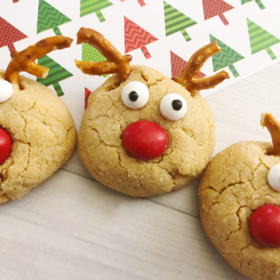 Peanut Butter Blossoms: Easy Christmas Reindeer Cookies