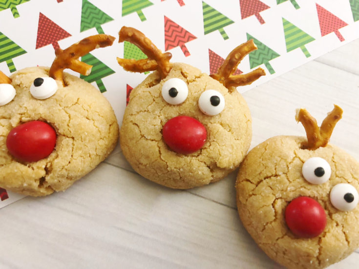 Peanut Butter Blossoms Easy Christmas Reindeer Cookies