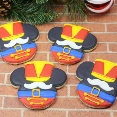Disney Christmas Sugar Cookies: Mickey Nutcracker Cookies